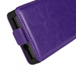 Чехол вертикальная книжка на пластиковой основе с магнитной застежкой для Sony Xperia SP Фиолетовый