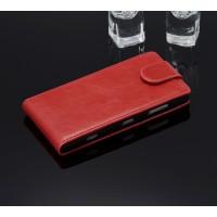 Чехол вертикальная книжка с магнитной застежкой для Nokia Lumia 830 Красный