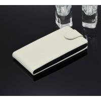 Чехол вертикальная книжка с магнитной застежкой для Nokia Lumia 830 Белый
