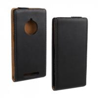 Чехол вертикальная книжка на пластиковой основе для Nokia Lumia 830 Черный