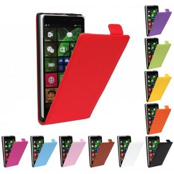 Чехол вертикальная книжка на пластиковой основе для Nokia Lumia 830