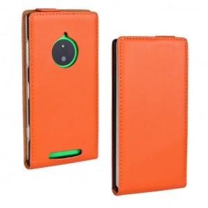 Чехол вертикальная книжка на пластиковой основе для Nokia Lumia 830 Оранжевый