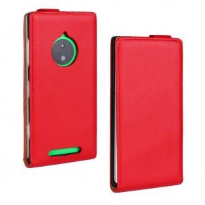 Чехол вертикальная книжка на пластиковой основе для Nokia Lumia 830 Красный