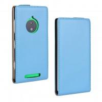 Чехол вертикальная книжка на пластиковой основе для Nokia Lumia 830 Голубой
