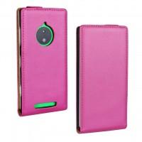 Чехол вертикальная книжка на пластиковой основе для Nokia Lumia 830 Пурпурный