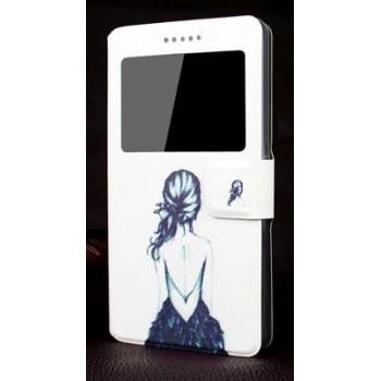 Дизайнерский принтованный чехол флип с окном вызова и подставкой для Nokia Lumia 830