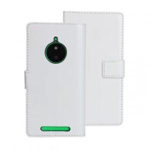 Глянцевый чехол портмоне подставка с защелкой для Nokia Lumia 830 Белый