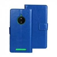 Глянцевый чехол портмоне подставка с защелкой для Nokia Lumia 830 Синий