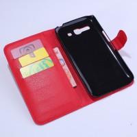 Чехол портмоне подставка с защелкой для Alcatel One Touch Pop C9 Красный