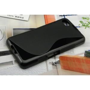 Силиконовый чехол S для Blackberry Z30 Черный