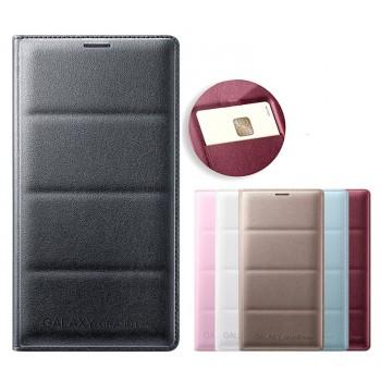 Чехол флип с отделением для карт и тиснением для Samsung Galaxy Grand Prime