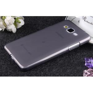 Силиконовый матовый полупрозрачный чехол для Samsung Galaxy Grand Prime Черный