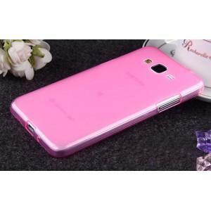 Силиконовый матовый полупрозрачный чехол для Samsung Galaxy Grand Prime Розовый