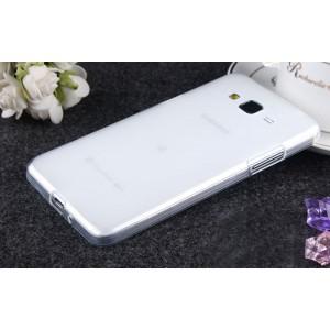 Силиконовый матовый полупрозрачный чехол для Samsung Galaxy Grand Prime Белый