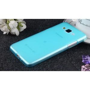 Силиконовый матовый полупрозрачный чехол для Samsung Galaxy Grand Prime Голубой