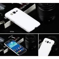 Пластиковый матовый непрозрачный чехол для Samsung Galaxy Core Advance Белый