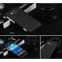 Пластиковый матовый непрозрачный чехол для Samsung Galaxy Core Advance Черный