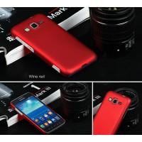 Пластиковый матовый непрозрачный чехол для Samsung Galaxy Core Advance Красный