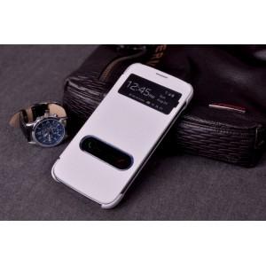 Чехол флип с окном вызова и свайпом для Samsung Galaxy Core Advance