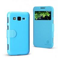 Чехол флип на пластиковой основе с магнитной застежкой серия Colors для Samsung Galaxy Core Advance Голубой