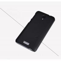 Пластиковый матовый нескользящий премиум чехол для Lenovo S660 Черный