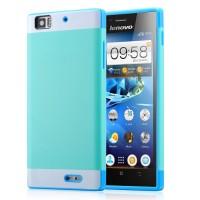 Двуцветный чехол для Lenovo K900 IdeaPhone серии DualColor Голубой