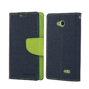 Текстурный чехол флип с дизайнерской застежкой для LG L70