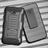 Силиконовый премиум чехол с поликарбонатной крышкой для LG L70