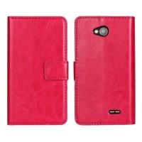 Чехол портмоне подставка с защелкой для LG L70 Пурпурный