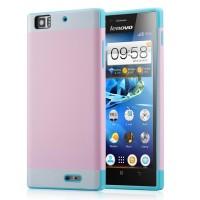 Двуцветный чехол для Lenovo K900 IdeaPhone серии DualColor Розовый