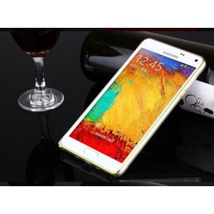 Металлический бампер для Samsung Galaxy A3 Белый