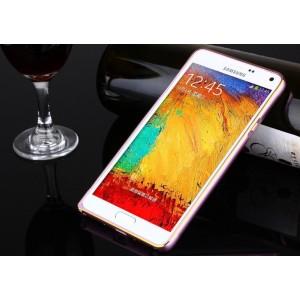 Металлический бампер для Samsung Galaxy A3 Пурпурный