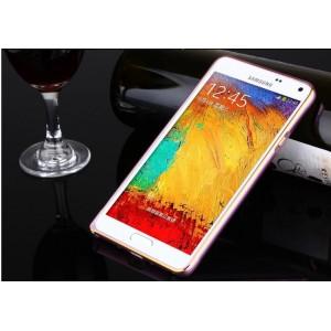 Металлический бампер для Samsung Galaxy A3 Розовый