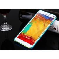 Металлический бампер для Samsung Galaxy A3 Голубой