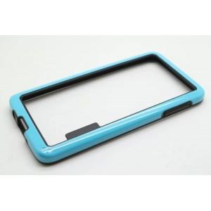 Силиконовый бампер двухцветный для Samsung Galaxy A3 Голубой