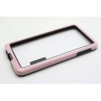 Силиконовый бампер двухцветный для Samsung Galaxy A3 Розовый