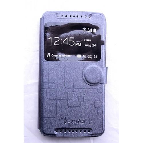 Текстурный чехол флип подставка с застежкой и окном вызова для Acer Liquid Z500 Пурпурный