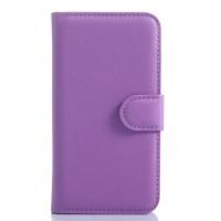 Чехол портмоне подставка с защелкой для Samsung Galaxy Core Prime Фиолетовый