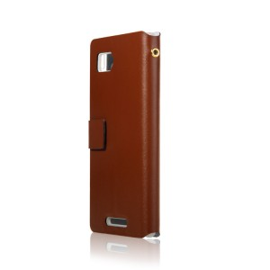 Чехол-флип с отделением для карт для Lenovo Vibe Z K910 Коричневый