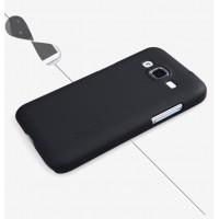 Пластиковый матовый нескользящий премиум чехол для Samsung Galaxy Core Prime Черный