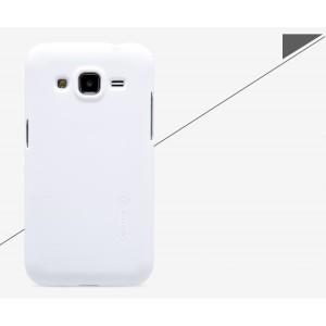 Пластиковый матовый нескользящий премиум чехол для Samsung Galaxy Core Prime