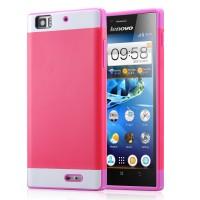 Двуцветный чехол для Lenovo K900 IdeaPhone серии DualColor Пурпурный