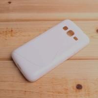 Силиконовый S чехол для Samsung Galaxy Core Prime Белый