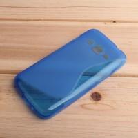 Силиконовый S чехол для Samsung Galaxy Core Prime Синий