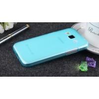 Силиконовый матовый полупрозрачный чехол для Samsung Galaxy Core Prime Голубой