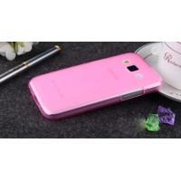 Силиконовый матовый полупрозрачный чехол для Samsung Galaxy Core Prime Розовый