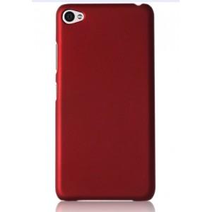 Пластиковый матовый непрозрачный чехол для Lenovo S90 Красный