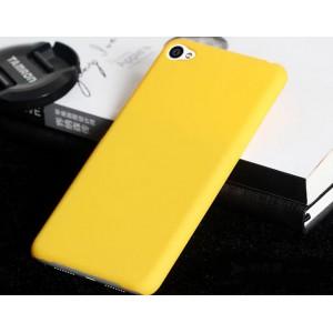 Пластиковый матовый непрозрачный чехол для Lenovo S90 Желтый