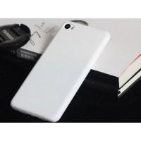 Пластиковый матовый непрозрачный чехол для Lenovo S90 Белый