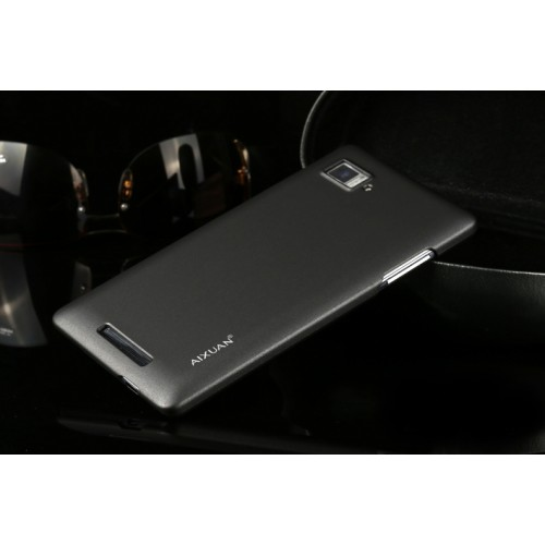 Пластиковый матовый металлик чехол для Lenovo Vibe Z